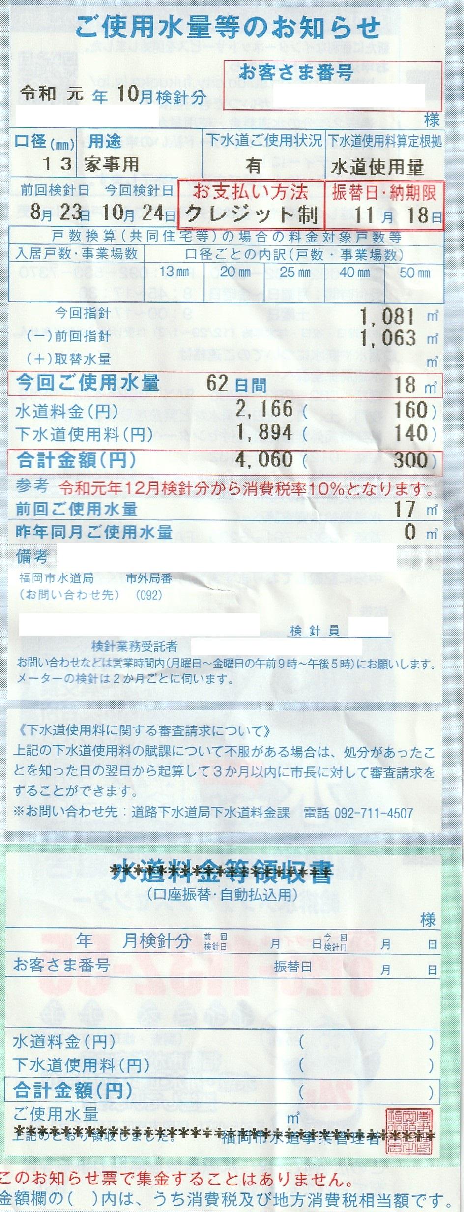 カード クレジット 水道 料金